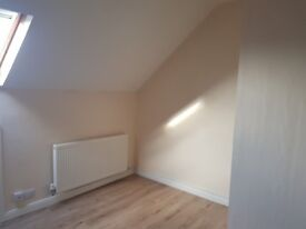 Spacious and bright attic room with private shower room and toilet