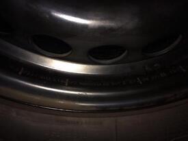 Steel wheels and tyres vw t5 amarok 215/65r 16c