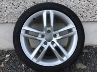 18INCH 5/112 AUDI S-LINE GENUINE ALLOY WHEELS WITH TYRES FIT VW SEAT SKODA ETC