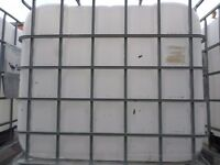 EMPTY CLEAN 1000 LT LARGE LIQUID CONTAINERS