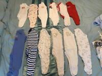 52 piece bundle of baby boys clothes mainly 0-3 Months but there is afew newborn,