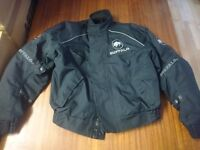 Buffalo Motorcycle Biking Jacket UK L Black Padded Wind Water Resistant