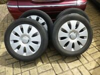 Audi A3/VW 16 inch Alloys with excellent tyres