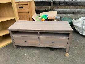 Wood grey sideboard with shelves and storage