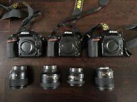 3 three NIKON D750 plus 4 lenses