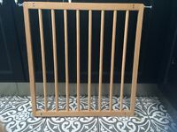 BabyDan No Trip wooden stair gate, used, excellent condition - with fixings.