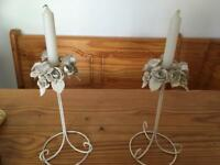 2 pretty candle holders