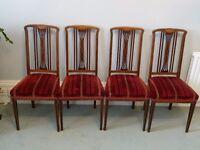 Mahogany dining chairs (4)