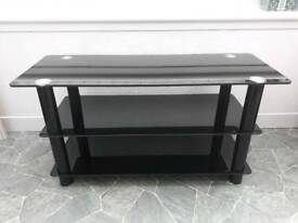 Argos black glass TV stand