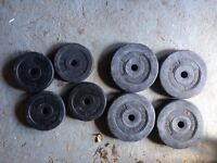 8 barbells ( four 2.5kg and four 1.25kg)