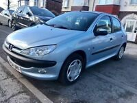 2004 PEUGEOT 206 FEVER 5D00RS 1.1,MOT JANUARY 2019,SERVICE BILLS,NEW CLUTCH,FRONT FOG LIGHTS,AIR-CON