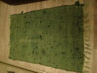 Green shabby chic rug