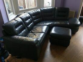 Sofa and pouffe