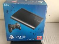 New PS3 super slim 320GB console plus 10 games and 2 original controller.