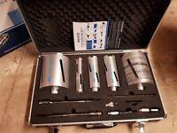 Diamond core drill set. Used twice.