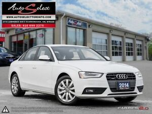 2014 Audi A4 Quattro AWD ONLY 93K! **CLEAN CARPROOF** LED LIG...
