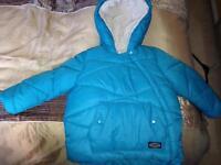 Zara boys thick fully lined coat 3-4