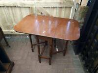 Fantastic antique drop leaf table, good condition considering age,