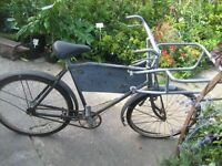 Butchers bike with carrier 40s 50s