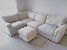 Harveys cornergroup sofa with foot stall