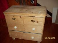1950 / 60s wooden 4 drawer chest of drawers