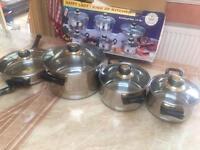set 4 pots and pans