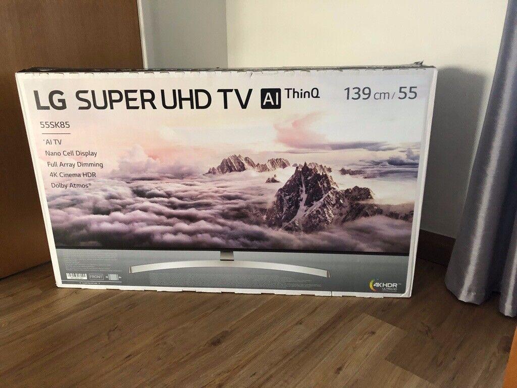 LG 55 Inch 4K HDR SUPER UHD AI ThinQ Smart TV Wifi Freeview / Freesat HD -  55SK8500PLA   in Llanelli, Carmarthenshire   Gumtree
