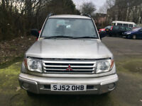 MITSUBISHI SHOGUN PININ - BREAKING FOR PARTS - PETROL 1.8 2002 53,960 miles