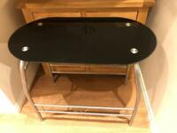 Small Black Glass Breakfast/Dining table