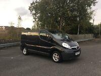 2007 2.5 diesel 150bhp BLACK Vauxhall Vivaro LOW 59k miles NEW 11/2017 MOT like Trafic and Primastar