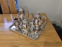 French Silver plate vintage coffee and tea service