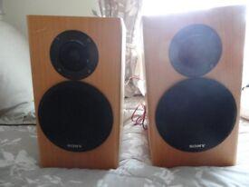 pair of 100watt Sony Speakers - Wood