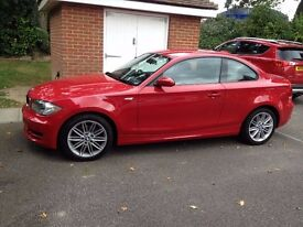 BMW 1 Series Coupe in Red 2009 (177bhp)