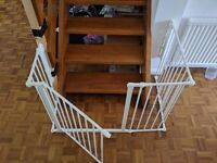 BabyDan Flex M Combo Safety gate Stair gate or Fire Gate + extras in White