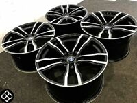 "BRAND NEW 22"" BMW X5/X6 STYLE ALLOY WHEELS - 5 X 120 - DIAMOND CUT FINISH"