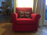 Ikea Ektorp Red Armchair