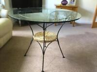 Bistro glass table