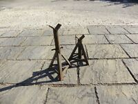 Pair heavy duty axle stands
