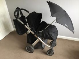 Oyster Pram Set with Accessories - Black