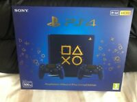 Sony Playatstaion Limited Edition Days of Play 500GB PS4 Console with 2 Days of Play Controllers
