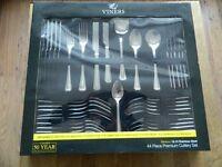 "Viners ""Banbury"" 44 piece premium cutlery set. NEW & UNUSED."