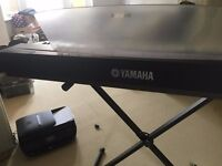 Yamaha P-70 electronic keyboard, with stand, adaptor, foot pedal 88 keys
