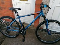 """Carrera velour 18"""" frame 24 gears 27.5"""" Tyres like new condition"""