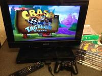 Sony Bravia PlayStation 2 tv built in console complete with games