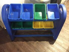 Storage shelves and storage bins/boxes ideal for kids toys, figures, small items etc