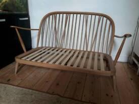 Ercol 2 seater sofa, vintage 1960s, mid-century classic