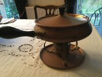 Vintage copper and brass fondue