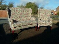HSL Buckingham Comfort Sofa - Settee and Chair floral tapestry fabric