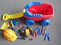 Children's Mega Bloks truck and building toys