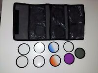 great selection of 9x 58mm filters with case